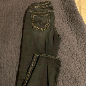 Silver Suki skinny jeans, worn once